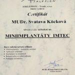 Certifikát implantáty